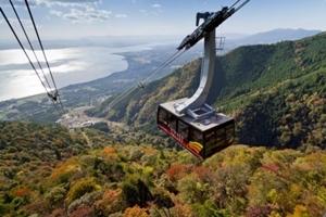 滋賀県 紅葉スポット 琵琶湖バレイ