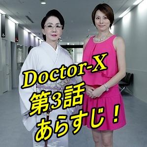 【ドクターX3大門未知子】第3話!あらすじとネタバレ!視聴率は?