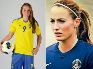 女子ワールドカップ 美女 スウェーデン 9番