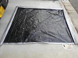 バックドアテント リアゲートタープ 自作
