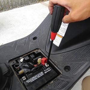 アドレスV125S バッテリー交換